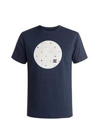 Camiseta con cuello circular azul marino de DC Shoes