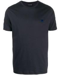 Camiseta con cuello circular azul marino de Emporio Armani