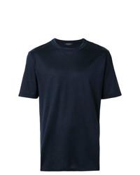 Camiseta con cuello circular azul marino de Ermenegildo Zegna