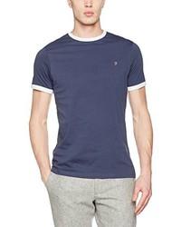 Camiseta con cuello circular azul marino de Farah