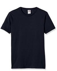 Camiseta con cuello circular azul marino de Fruit of the Loom
