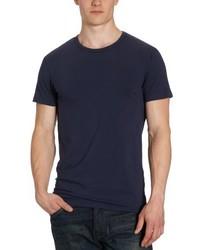Camiseta con cuello circular azul marino de Jack & Jones
