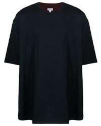 Camiseta con cuello circular azul marino de Loewe