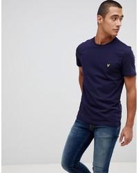 Camiseta con cuello circular azul marino de Lyle & Scott