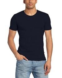 Camiseta con cuello circular azul marino de Minimum