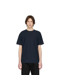 Camiseta con cuello circular azul marino de Norse Projects