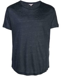 Camiseta con cuello circular azul marino de Orlebar Brown