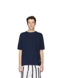 Camiseta con cuello circular azul marino de Our Legacy