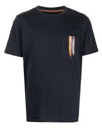 Camiseta con cuello circular azul marino de Paul Smith