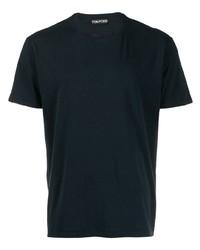Camiseta con cuello circular azul marino de Tom Ford