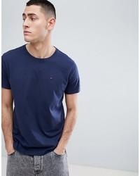 Camiseta con cuello circular azul marino de Tommy Jeans