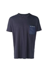 Camiseta con cuello circular azul marino de VISVIM