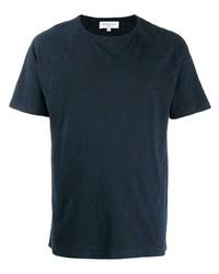 Camiseta con cuello circular azul marino de YMC