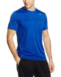 Camiseta con cuello circular azul de adidas
