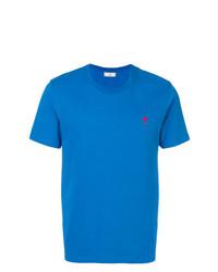Camiseta con cuello circular azul de AMI Alexandre Mattiussi