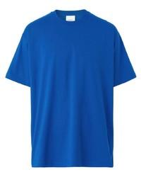 Camiseta con cuello circular azul de Burberry