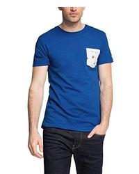 Camiseta con cuello circular azul de Esprit