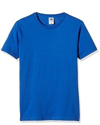 Camiseta con cuello circular azul de Fruit of the Loom