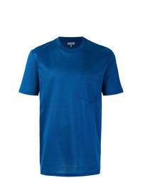 Camiseta con cuello circular azul de Lanvin