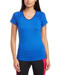 Camiseta con cuello circular azul de Nike