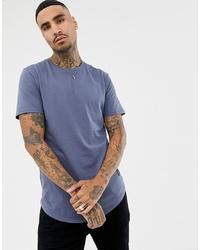 Camiseta con cuello circular azul de ONLY & SONS
