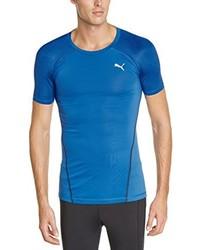 Camiseta con cuello circular azul de Puma