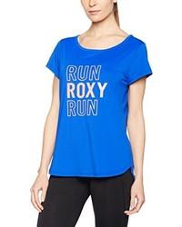 Camiseta con cuello circular azul de Roxy