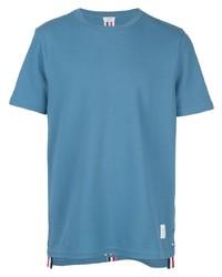Camiseta con cuello circular azul de Thom Browne