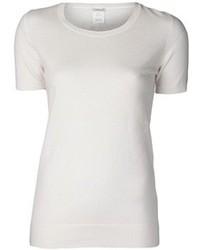 Camiseta con cuello circular blanca original 1311549