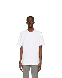 Camiseta con cuello circular blanca de 1017 Alyx 9Sm