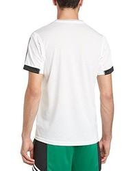 Camiseta con cuello circular blanca de adidas