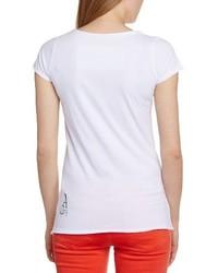 Camiseta con cuello circular blanca de Ampercell