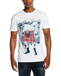 Camiseta con cuello circular blanca de Antony Morato