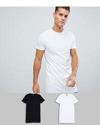Camiseta con cuello circular blanca de ASOS DESIGN