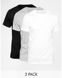 Camiseta con cuello circular blanca de Asos