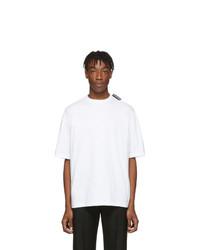 Camiseta con cuello circular blanca de Balenciaga