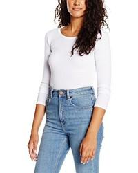 Camiseta con cuello circular blanca de Boohoo