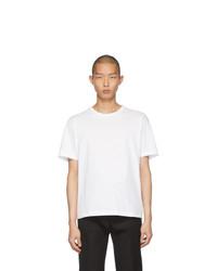 Camiseta con cuello circular blanca de Bottega Veneta