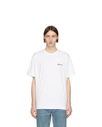 Camiseta con cuello circular blanca de Burberry
