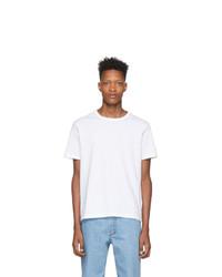 Camiseta con cuello circular blanca de Champion Reverse Weave