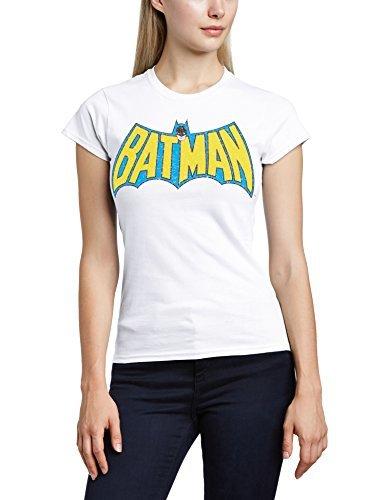 Camiseta con cuello circular blanca de DC Comics