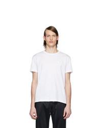 Camiseta con cuello circular blanca de Dolce and Gabbana