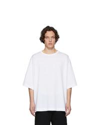 Camiseta con cuello circular blanca de Dries Van Noten
