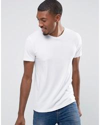 Camiseta con cuello circular blanca de Esprit