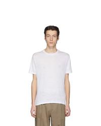 Camiseta con cuello circular blanca de Etro