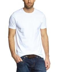 Camiseta con cuello circular blanca de Garage
