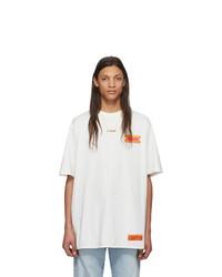 Camiseta con cuello circular blanca de Heron Preston