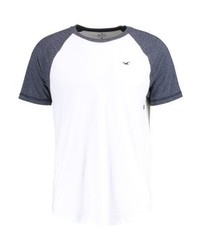 Camiseta con cuello circular blanca de Hollister Co.