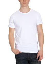 Camiseta con cuello circular blanca de Jack & Jones