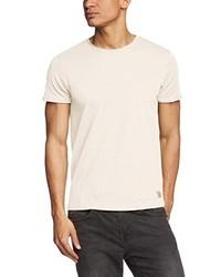Camiseta con cuello circular blanca de JACK & JONES VINTAGE
